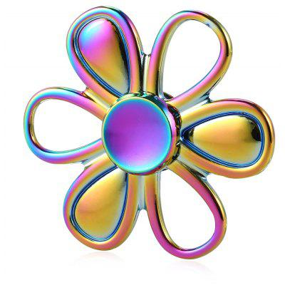 Six-leaf Flower Rainbow Zinc Alloy Fidget Spinner