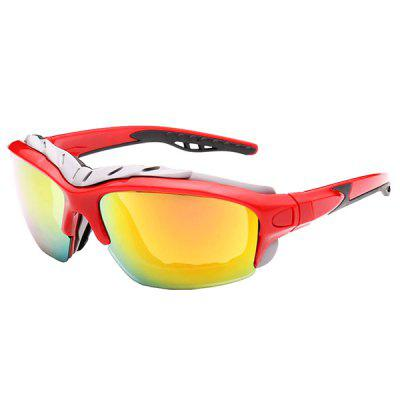 UV400 Skiing Cycling Sunglasses with Anti-explosion PC Lens
