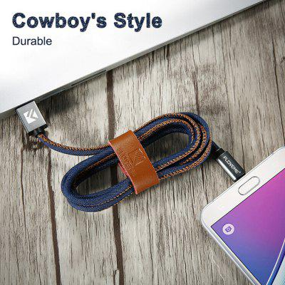 FLOVEME Denim Micro USB CableChargers &amp; Cables<br>FLOVEME Denim Micro USB Cable<br><br>Brand: FLOVEME<br>Cable Length (cm): 100cm<br>Interface Type: Micro USB, USB 2.0<br>Material ( Cable&amp;Adapter): Aluminum Alloy, Denim<br>Package Contents: 1 x 100cm USB Cable<br>Package size (L x W x H): 12.00 x 10.00 x 1.60 cm / 4.72 x 3.94 x 0.63 inches<br>Package weight: 0.0400 kg<br>Product size (L x W x H): 100.00 x 1.50 x 0.60 cm / 39.37 x 0.59 x 0.24 inches<br>Product weight: 0.0200 kg<br>Type: Cable