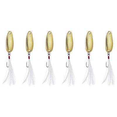 6pcs Yapada 007 3.5g Scale Style Spoon Fishing Sequin Lure