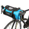 ROSWHEEL 111369 Water-resistant 7L Bike Handlebar Bag Pack - BLUE AND BLACK