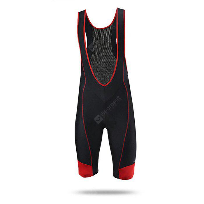 Arsuxeo AR007 Silicone Cushion Short Cycling Suspender Pants