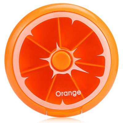 Buy ORANGE Press-rotation 7-day Pill Storage Case Box Plastic Organizer for $2.07 in GearBest store