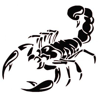 28cm Length Car 3D Sticker Scorpion Shape Pattern