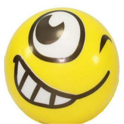 6.3cm Winking Smile Emoji PU Foam Squishy Toy