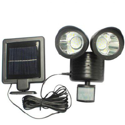 22 LEDs Two Head Highlight Lamp with Solar Panel