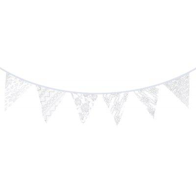 Lace Wave Flag Banner