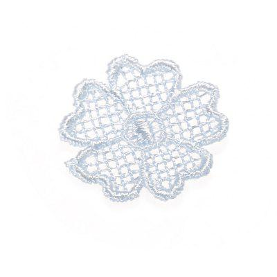 Mini Flower Lace Embroidered Clothes Patch Floral Sewing for Wedding Dress Craft DIY