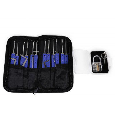HakkaDeal Lock Pick Set  with Red Padlock