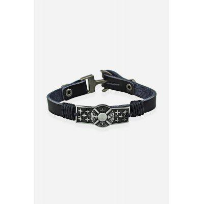 Fashion Punk Metal Leather Bracelet