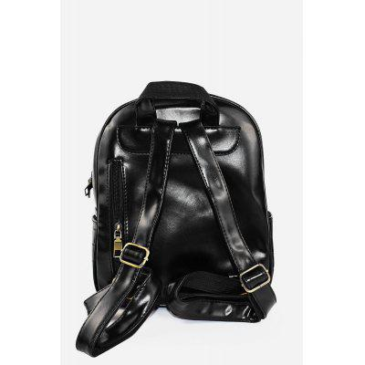 Fashion Women PU Leather Motorcycle Bag Backpack от GearBest.com INT