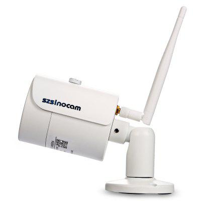 Szsinocam SN - IPC - 4003FCSW201080P 2.0MP WiFi IP CameraIP Cameras<br>Szsinocam SN - IPC - 4003FCSW201080P 2.0MP WiFi IP Camera<br><br>APP: CamHi<br>Backlight Compensation: Auto<br>Brand: Szsinocam<br>Compatible Operation Systems: Linux,Mac OS,Microsoft Windows 98 / ME / 2000 / XP,Windows 7,Windows 8<br>Environment: Indoor,Outdoor<br>FOV: 90 degree<br>Frame Rate (FPS): 25fps<br>Image Adjustment: Brightness,Color saturation,Contrast,Hue,Sharpness<br>Infrared Distance: 10 - 20m<br>Infrared LED: 36 LEDs<br>IP camera performance: Night Vision, Interphone, Motion Detection, Backlight Compensation, Support video control, Screenshot<br>Language: Danish,Deutsch,Dutch,English,Finnish,French,Itanlian,Japanese,Korean,Polish,Portuguese,Russian,Simplified Chinese,Spanish,Swedish<br>Maximum Monitoring Range: About 10m<br>Minimum Illumination: 0.1 Lux ( IR LED On ) / F 1.2<br>Mobile Access: Android,IOS<br>Model: SN - IPC - 4003FCSW20<br>Motion Detection Distance: Up to 10m<br>Network Port: RJ-45<br>Online Visitor (Max.): 5<br>Operate Temperature (?): 0 - 50 Deg.C<br>Package Contents: 1 x IP Camera, 1 x English User Manual, 1 x Power Adapter ( with 106cm Cable ), 1 x CD, 3 x Screw, 3 x Screw Cap, 1 x Screwdriver, 1 x Antenna<br>Package size (L x W x H): 20.50 x 11.00 x 11.50 cm / 8.07 x 4.33 x 4.53 inches<br>Package weight: 0.5540 kg<br>Pixels: 2MP<br>Product size (L x W x H): 16.50 x 6.50 x 6.50 cm / 6.5 x 2.56 x 2.56 inches<br>Product weight: 0.3140 kg<br>Protocol: DDNS,DHCP,FTP,HTTP,IP,LAN,ONVIF,P2P,RTSP,SMTP<br>Resolution: 1920 ? 1080<br>Sensor: CMOS<br>Sensor size (inch): 1/3<br>Shape: Bullet Camera<br>Technical Feature: Waterproof, Infrared<br>Video Compression Format: H.264<br>Video format: AVI<br>Video Resolution: 1080P<br>Video Standard: NTSC,PAL<br>Waterproof: IP66<br>Web Browser: Firefox,Google Chrome,IE,Microsoft Internet Explorer 6.0 above,Safari<br>White Balance: Auto<br>WiFi Distance: 111<br>Wireless: WiFi 802.11 b/g/n<br>Working Voltage: 12V / 1A