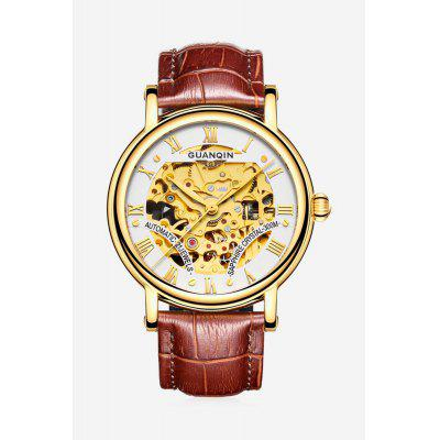 GUANQIN GJ16053 Men Luxurious Auto Mechanical Watch