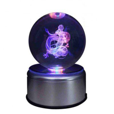 LED Flashing Crystal Ball with 3D Action Figure