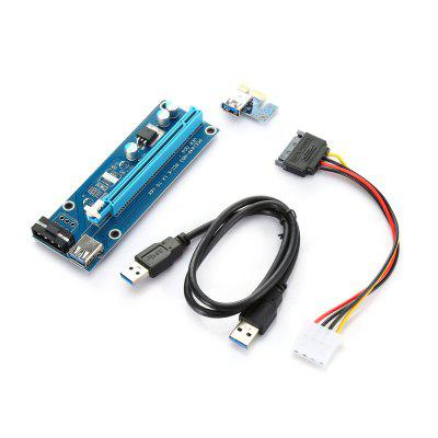 PCI - E 1X to16X Extender Riser Card Adapter with USB 3.0 Cable