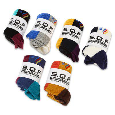 6 Pairs of STAR FROM 1501 Cotton Short Leisure Sports Socks