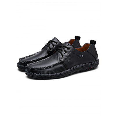 Handmade Men Lace-up Casual Leather ShoesMen's Oxford<br>Handmade Men Lace-up Casual Leather Shoes<br><br>Contents: 1 x Pair of Shoes<br>Materials: Leather<br>Occasion: Casual, Daily<br>Package Size ( L x W x H ): 34.00 x 23.00 x 12.00 cm / 13.39 x 9.06 x 4.72 inches<br>Package Weights: 0.88KG<br>Seasons: Autumn,Spring,Summer<br>Style: Leisure, Fashion, Comfortable<br>Type: Casual Shoes