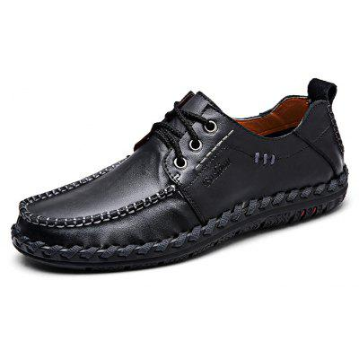 Handmade Men Lace-up Casual Leather Shoes