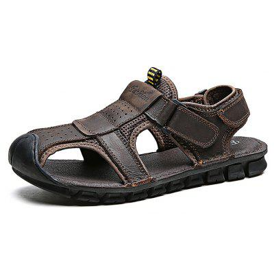 Outdoor Hand-sewn Cowhide Men Casual Sandals