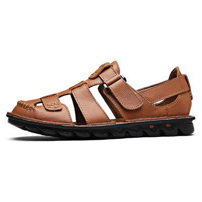 Comfortable Hand-sewn Cowhide Men Casual Sandals
