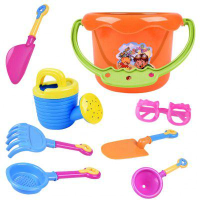 9pcs Kids Sand Beach Toys Castle Bucket Spade Shovel Rake