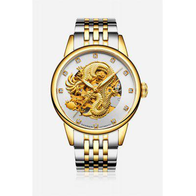 GUANQIN GJ16059 Hollow-out Men Auto Mechanical Watch
