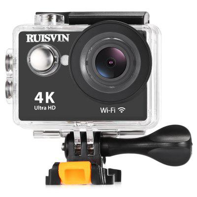 RUISVIN W9S 4K WiFi Action Sports CameraAction Cameras<br>RUISVIN W9S 4K WiFi Action Sports Camera<br><br>Application: Underwater, Extreme Sports<br>Battery Capacity (mAh): 900mAh<br>Battery Type: Removable<br>Brand Name: RUISVIN<br>Charge way: USB charge by PC<br>Charging Time: 5h<br>Chipset: Sunplus 6330<br>Chipset Name: Sunplus<br>Function: Anti-Shake, WiFi, Waterproof, Camera Timer<br>Image Format: JPG<br>Language: Czech,Dutch,English,French,Italian,Japanese,Korean,Polish,Portuguese,Russian,Spanish,Traditional Chinese,Turkish<br>Lens Diameter: 20mm<br>Max External Card Supported: TF 32G (not included)<br>Model: W9S<br>Package Contents: 1 x 4K WiFi Sports Camera, 1 x Waterproof Case + Screw, 1 x Bike Handlebar Seatpost Pole Mount, 1 x Clip, 4 x Mount, 1 x USB Cable, 1 x Tether, 1 x Multi-language User Manual<br>Package size (L x W x H): 22.70 x 10.20 x 6.80 cm / 8.94 x 4.02 x 2.68 inches<br>Package weight: 0.5000 kg<br>Product size (L x W x H): 5.93 x 2.46 x 4.11 cm / 2.33 x 0.97 x 1.62 inches<br>Product weight: 0.0600 kg<br>Screen: With Screen<br>Screen resolution: 640 x 320<br>Screen size: 2.0inch<br>Standby time: 5h<br>Type: Sports Camera<br>Type of Camera: 4K<br>Video format: MOV<br>Video Frame Rate: 10fps,30FPS<br>Video Resolution: 1080P(30fps),4K(10fps),720P (30fps)<br>Water Resistant: 30m ( with waterproof case )<br>Waterproof: Yes<br>Wide Angle: 140 degree wide angle<br>WIFI: Yes<br>WiFi Distance: About 10m<br>Working Time: 5h