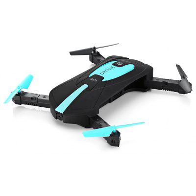 JY018 Mini Foldable RC Pocket Selfie Dron - BNF - BLUE I BLACK