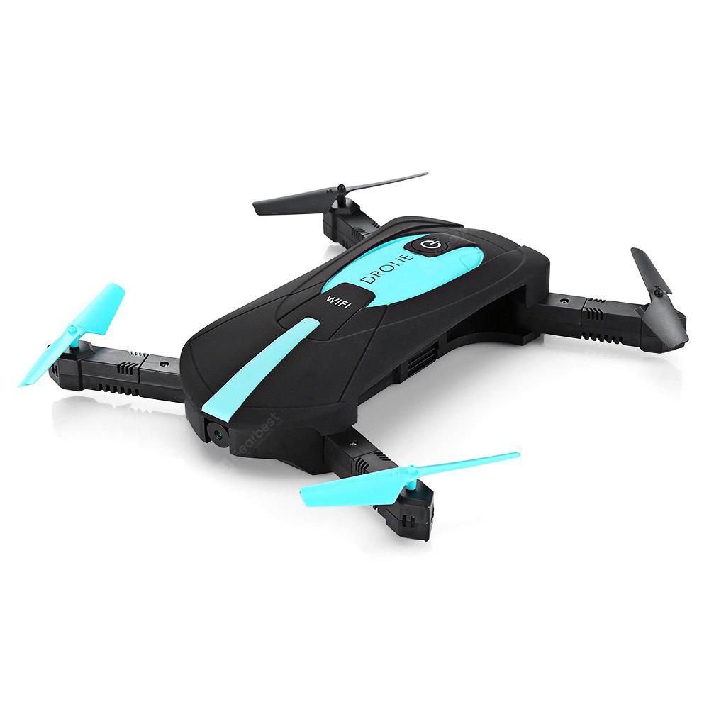 JY018 Mini Foldable RC Pocket Selfie Drone - BNF - BLUE AND BLACK