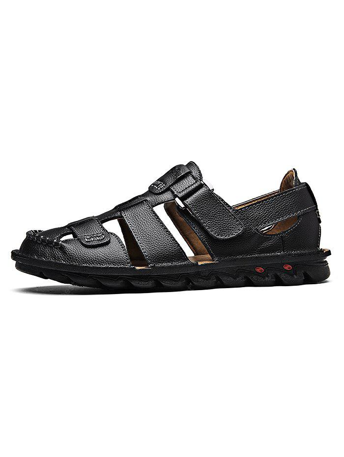 Breathable Hand-sewn Cowhide Men Casual Sandals