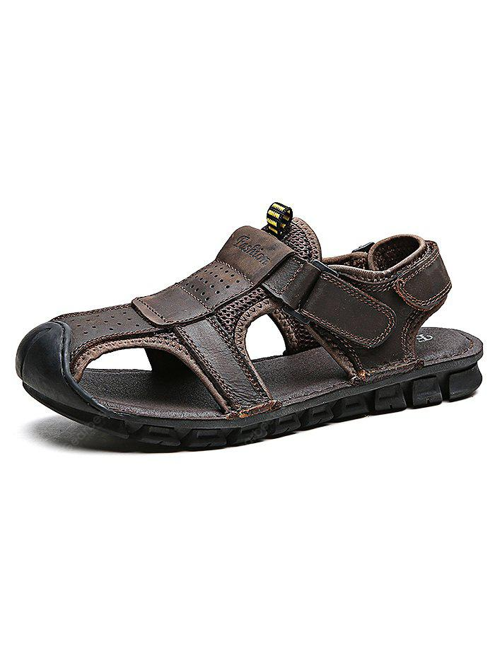 Outdoor Comfortable Hand-sewn Cowhide Men Casual Sandals cheap sale lowest price outlet extremely free shipping really release dates cheap price outlet from china 7DTXmm9