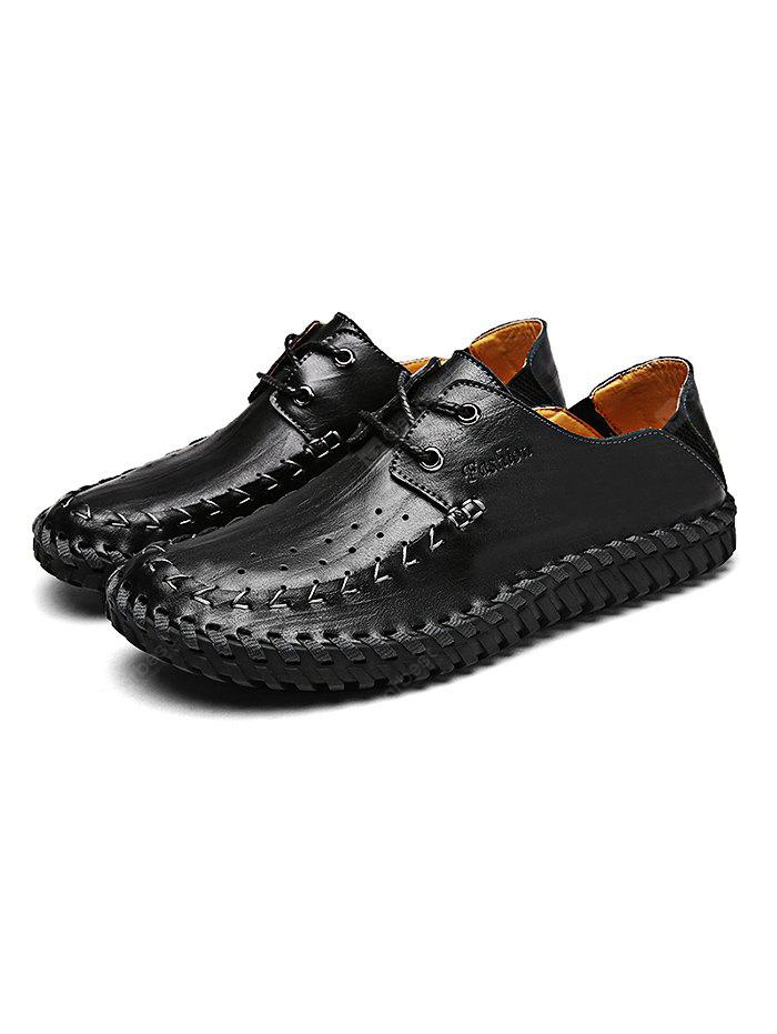 Hand-stitched Men Genuine Cowhide Casual Shoes