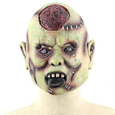 Super Terrifying Open Brain Zombie Latex Mask