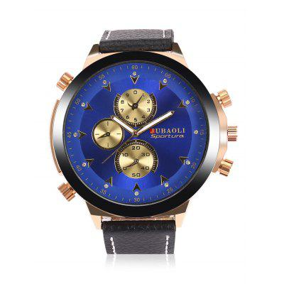 JUBAOLI A688 Men Quartz WatchMens Watches<br>JUBAOLI A688 Men Quartz Watch<br><br>Band material: Leather<br>Band size: 27 x 2cm<br>Brand: Jubaoli<br>Case material: Stainless Steel<br>Clasp type: Pin buckle<br>Dial size: 5 x 5 x 1cm<br>Display type: Analog<br>Movement type: Quartz watch<br>Package Contents: 1 x Watch, 1 x Box<br>Package size (L x W x H): 28.00 x 6.00 x 2.00 cm / 11.02 x 2.36 x 0.79 inches<br>Package weight: 0.1000 kg<br>Product size (L x W x H): 27.00 x 5.00 x 1.00 cm / 10.63 x 1.97 x 0.39 inches<br>Product weight: 0.0770 kg<br>Shape of the dial: Round<br>Special features: Luminous<br>Watch style: Fashion<br>Watches categories: Men<br>Water resistance: Life water resistant<br>Wearable length: 20 - 24cm