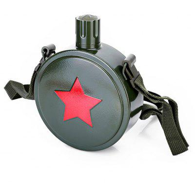 Retro Army Style Stainless Steel 550mL Water Bottle Kettle