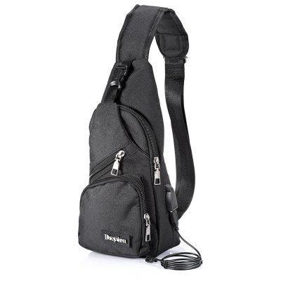2d66ca1d89 Extending USB Cable Polyester 5L Leisure Sling Bag Chest Pack.  13.14.  Dustproof Backpack Cover Water Resistant Camping Accessories