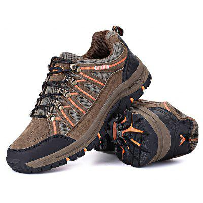 Buy KHAKI Anti-slip Outdoor Hiking Shoes for $36.69 in GearBest store