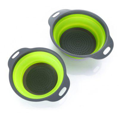 2PCS Collapsible Sink Colander Foldable Strainer