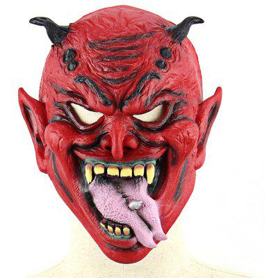 Realistic Evil Yaksha Latex Mask with Stuck-out Tongue