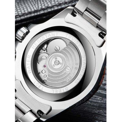 TEVISE T801A Men Mechanical Watch tevise mechanical men watch stainless steel strap automatic self wind wristwatches skeleton fashion casual clock 673s