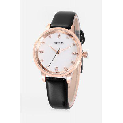 KEZZI K - 1684 Embedded Diamonds Quartz Female Watch