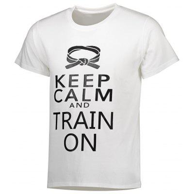 KEEP CALM AND TRAIN ON Men Short Sleeves T Shirt