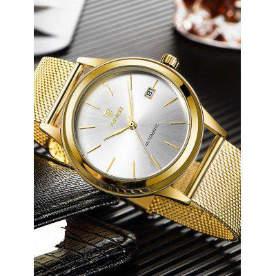 TEVISE 9006G Men Mechanical WatchMens Watches<br>TEVISE 9006G Men Mechanical Watch<br><br>Band material: Stainless Steel<br>Band size: 24 x 2cm<br>Brand: Tevise<br>Case material: Alloy<br>Clasp type: Hook buckle<br>Dial size: 4 x 4 x 1.3cm<br>Display type: Analog<br>Movement type: Mechanical watch<br>Package Contents: 1 x Watch, 1 x Box<br>Package size (L x W x H): 10.00 x 10.00 x 6.00 cm / 3.94 x 3.94 x 2.36 inches<br>Package weight: 0.3500 kg<br>Product size (L x W x H): 24.00 x 4.00 x 1.30 cm / 9.45 x 1.57 x 0.51 inches<br>Product weight: 0.1250 kg<br>Shape of the dial: Round<br>Special features: Date<br>Watch style: Fashion<br>Watches categories: Men<br>Water resistance: Life water resistant