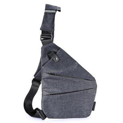 Male Polyester 3L Leisure Sling Bag Reflective Stripe Chest Pack