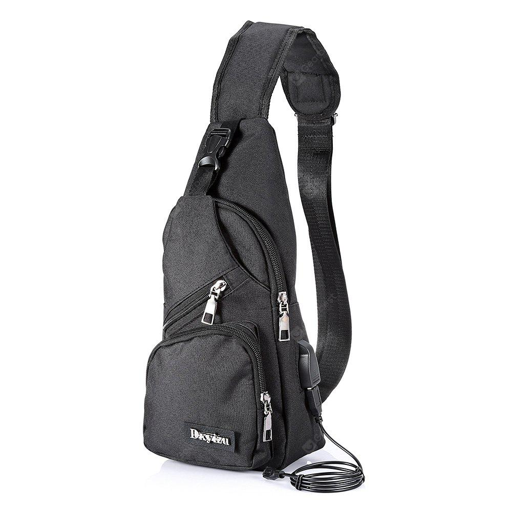 Extending USB Cable Polyester 5L Leisure Sling Bag Chest Pack