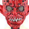 Horrible Yaksha Latex Mask with Jagged Teeth - RED
