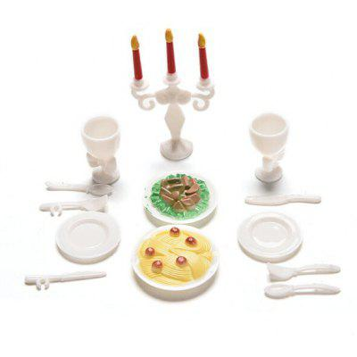 Plastic Play House Three-candlestick Dinner Service