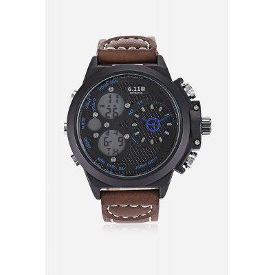 6.11 8163 Dual Movt Men Watch 48mmMens Watches<br>6.11 8163 Dual Movt Men Watch 48mm<br><br>Band material: Genuine Leather<br>Band size: 26 x 2cm<br>Brand: 6.11<br>Case material: Stainless Steel<br>Clasp type: Pin buckle<br>Dial size: 4.8 x 4.8 x 1.6cm<br>Display type: Analog-Digital<br>Movement type: Quartz + digital watch<br>Package Contents: 1 x Watch<br>Package size (L x W x H): 27.00 x 5.00 x 2.00 cm / 10.63 x 1.97 x 0.79 inches<br>Package weight: 0.1250 kg<br>Product size (L x W x H): 26.00 x 4.80 x 1.60 cm / 10.24 x 1.89 x 0.63 inches<br>Product weight: 0.1030 kg<br>Shape of the dial: Round<br>Special features: Alarm Clock, Day, Stopwatch, Light, Date<br>Watch style: Fashion<br>Watches categories: Men<br>Water resistance : Life water resistant<br>Wearable length: 19.5 - 24.5cm