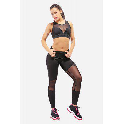 Mesh Stretch Ladies Yoga Leggings