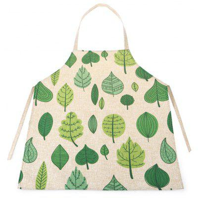 Green Leaf Waterproof Durable Comfortable Apron with Adjustable Strip for Kids